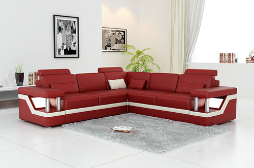 ZVEST - IV (G1074D) LEATHER/ETTE COMBINATION CORNER LOUNGE - ASSORTED COLOURS