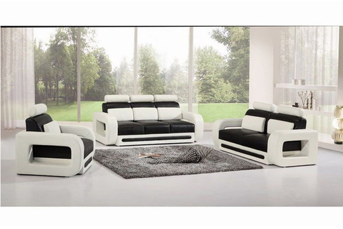 PREMIER ADRIAN (G5004) 1 SEATER + 2 SEATER + 3 SEATER  LEATHER/ETTE COMBINATION LOUNGE SUITE - ASSORTED COLOURS