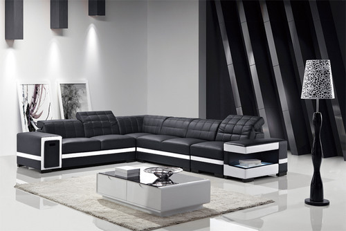 AVIANNA (G1056) 1 SEATER + 2 SEATER + 3 SEATER LEATHER/ETTE COMBINATION CORNER LOUNGE SUITE WITH OTTOMAN - ASSORTED COLOURS