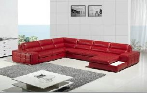 VEZIO (G1078) 2 SEATER + 2 SEATER LEATHER/ETTE COMBINATION CORNER CHAISE LOUNGE SUITE - ASSORTED COLOURS