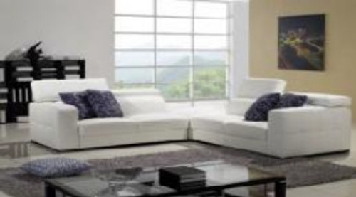 DENISE (F2069) 2 SEATER + 2 SEATER LEATHER/ETTE COMBINATION CORNER LOUNGE SUITE - ASSORTED COLOURS