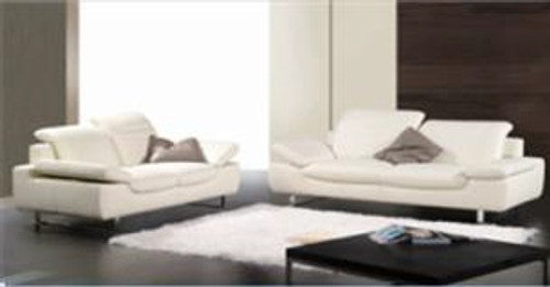 ANTHEA (F6010) 1 SEATER + 2 SEATER + 3 SEATER LEATHER/ETTE COMBINATION LOUNGE SUITE - ASSORTED COLOURS