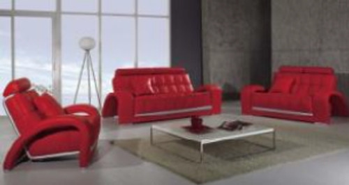 RESI (F6018) 1 SEATER + 2 SEATER + 3 SEATER LEATHER/ETTE COMBINATION LOUNGE SUITE - ASSORTED COLOURS