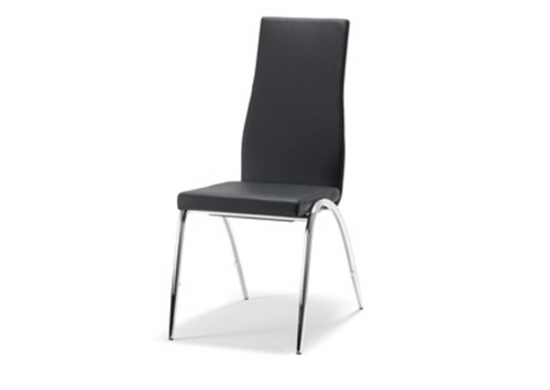 JESSY LEATHERETTE DINING CHAIR - BLACK