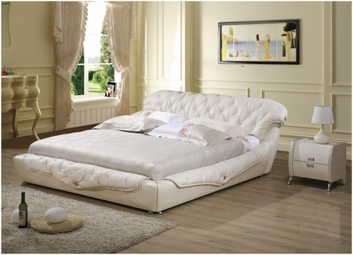 KING UMA LEATHERETTE BED (A878) - ASSORTED COLOURS