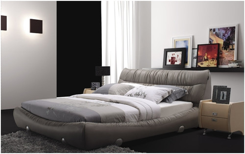 QUEEN SHANE LEATHERETTE BED (A895) - ASSORTED COLOURS