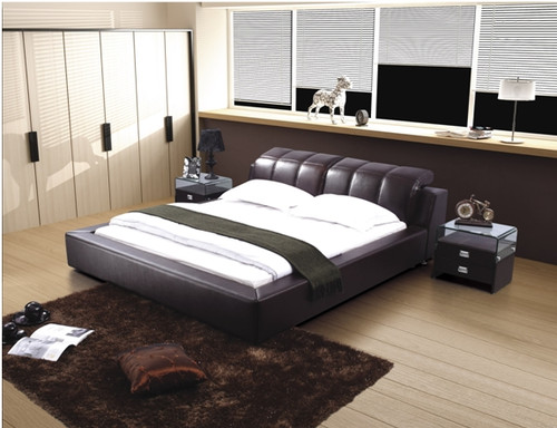 PAUL-HENRI KING 3 PIECE BEDSIDE BEDROOM SUITE - LEATHERETTE - ASSORTED COLOURS