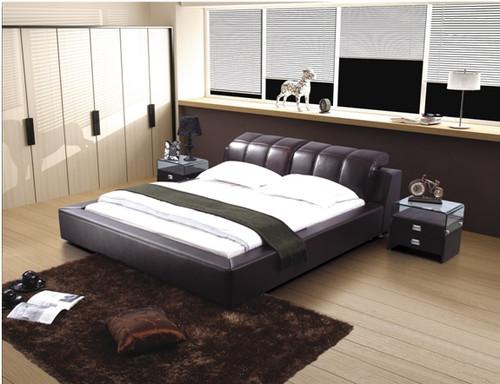 PAUL-HENRI QUEEN 3 PIECE BEDSIDE BEDROOM SUITE - LEATHERETTE - ASSORTED COLOURS