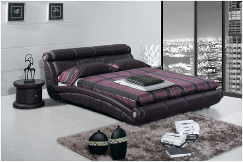 TERENCE QUEEN 3 PIECE BEDSIDE BEDROOM SUITE WITH (#119 BEDSIDES)- LEATHERETTE - ASSORTED COLOURS