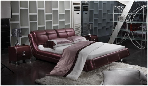 QUEEN ZIGMUND LEATHERETTE BED (A9022) - ASSORTED COLOURS