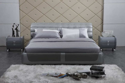 CEASAR KING 3 PIECE BEDSIDE BEDROOM SUITE WITH (#124 BEDSIDES) - LEATHERETTE - ASSORTED COLOURS (WITH OPTIONAL UPGRADE FOR GAS LIFT UNDERBED STORAGE)