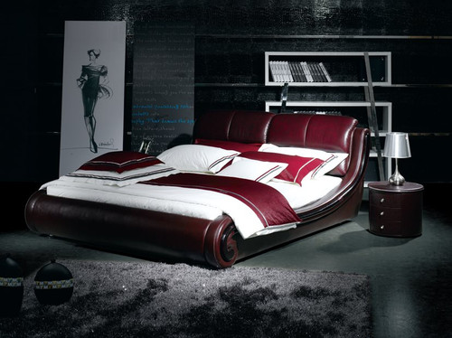 KING MERUDI LEATHERETTE BED (A9108) - ASSORTED COLOURS