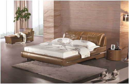 QUEEN CLIO LEATHERETTE BED (A9061) - ASSORTED COLOURS