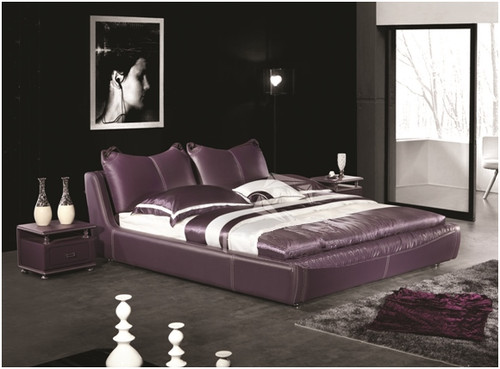 QUEEN IVOR LEATHERETTE BED (A9079) - ASSORTED COLOURS