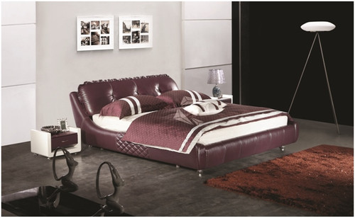 QUEEN VALTINO LEATHERETTE BED (A9085) WITH GAS LIFT UNDERBED STORAGE - ASSORTED COLOURS