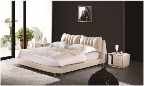 KING ARMANI LEATHERETTE BED (A9086) - ASSORTED COLOURS