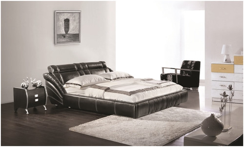KING ARION LEATHERETTE BED (A9099) - ASSORTED COLOURS