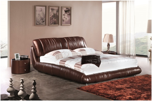QUEEN MATTHEW LEATHERETTE BED (A9902) - ASSORTED COLOURS