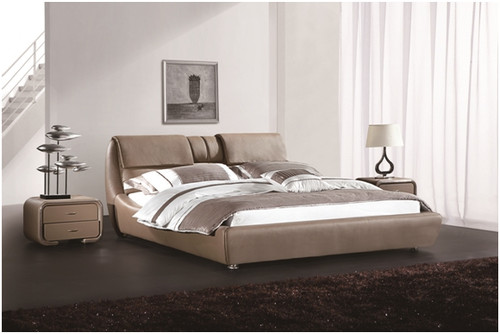 KING RENARD LEATHERETTE BED (A9910) - ASSORTED COLOURS