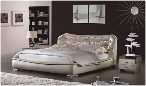SCHIRRU QUEEN 3 PIECE BEDSIDE BEDROOM SUITE - LEATHERETTE - ASSORTED COLOURS (WITH OPTIONAL UPGRADE FOR GAS LIFT UNDERBED STORAGE)