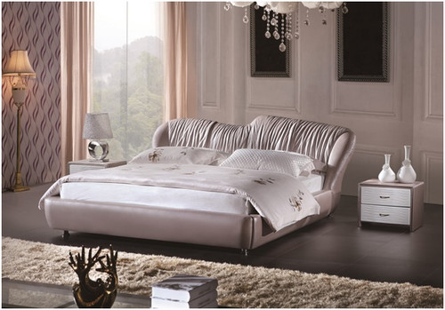 KING FERDINAND LEATHERETTE BED (A9926) - ASSORTED COLOURS