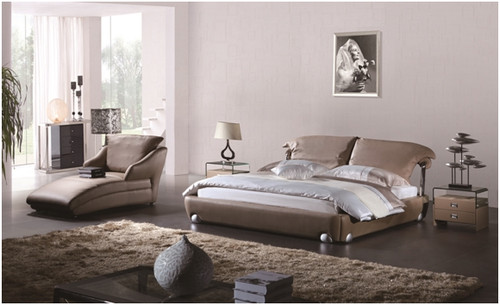 KING COSIMO LEATHERETTE BED (A9931)  - ASSORTED COLOURS