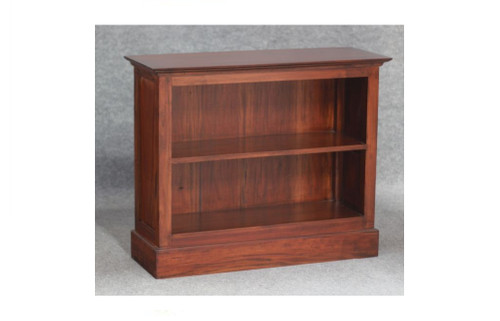 JULIAN HALF SIZE BOOKCASE SMALL (BC-000-HS-SM) - 800(H) x 980(W) - MAHOGANY OR CHOCOLATE