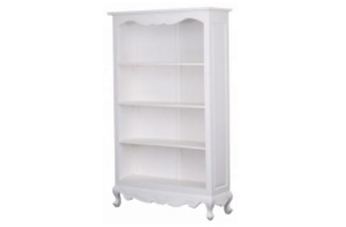 QUEEN ANNA BOOKCASE (MODEL 17-21-5-5-14-1-14-14) - 1800(H)x 1100(W) - WHITE