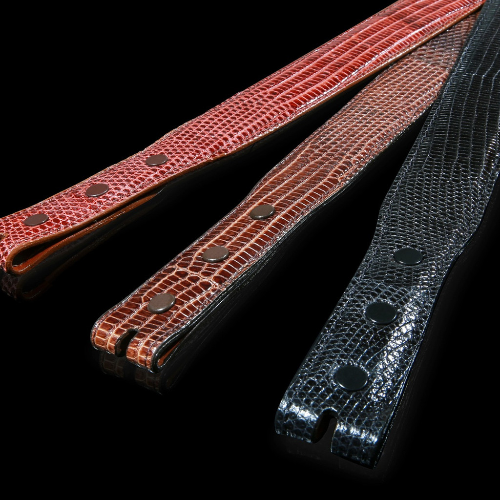 Lizard Belt, 1 1/4 inch Tapered to 1 inch
