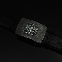 """Sterling Silver Buckle with Maltese Cross 1 1/2"""""""