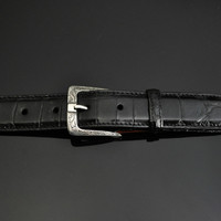 """Sterling Silver Engraved Buckle 1 1/4"""""""