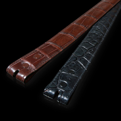 Alligator Belt, Matte 1 1/4 inch Straight