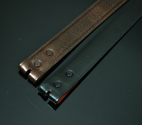 Smooth Calfskin Leather 1 1/4 inch Straight L