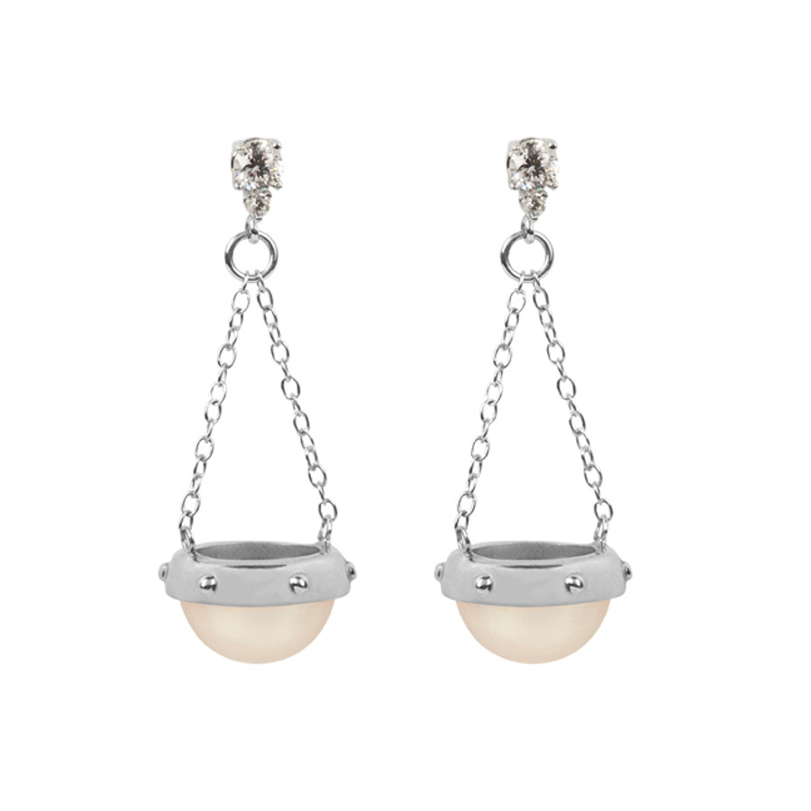 Scale of Justice Pearl Earrings
