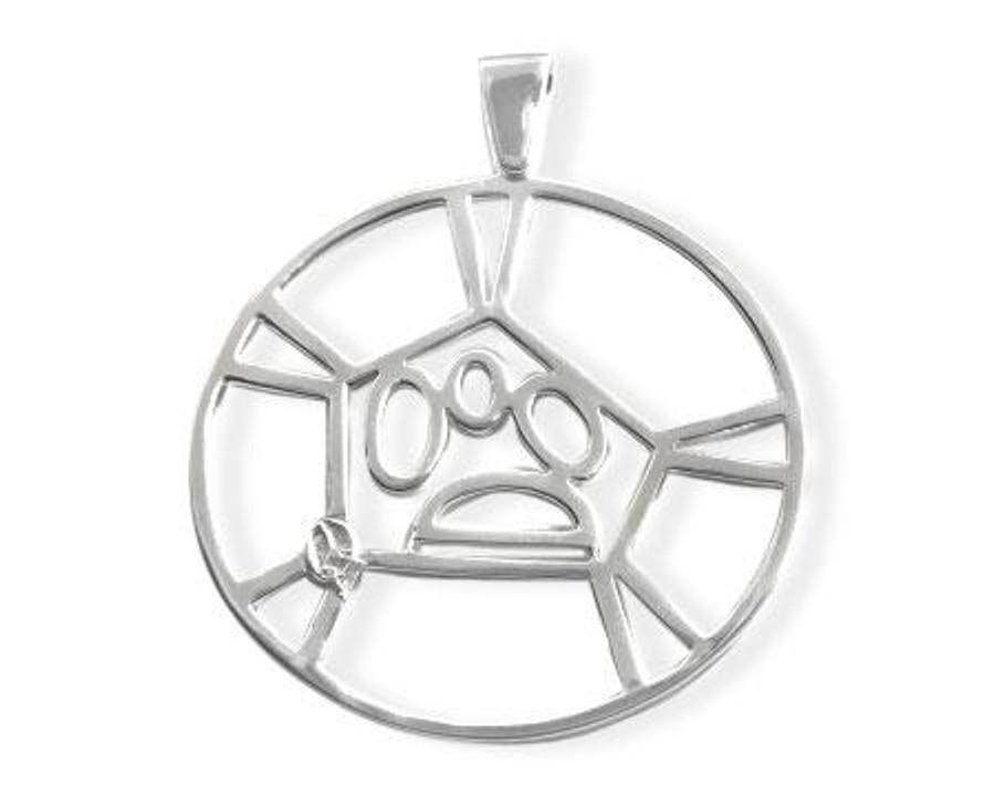 "Sterling silver  2"" (4.8 cm) pendant"