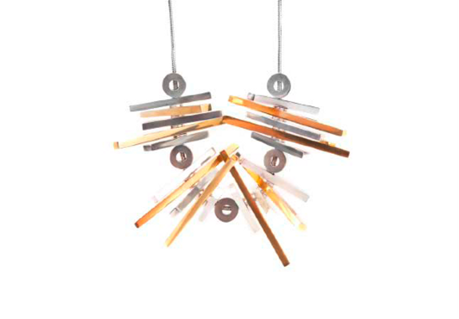 Movement Rack Necklace With Two-Tone Bars