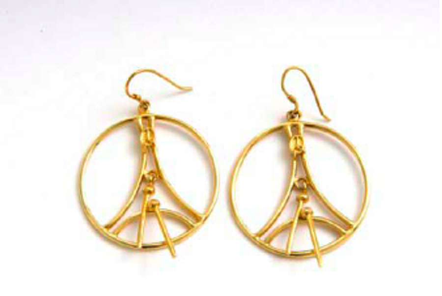 Classic Bass Gold Hoop Earrings
