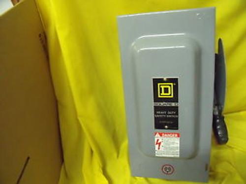 #1158 Square D Disconnect H362N  Fusible Nema 1 60 Amp 600 Volt  Heavy Duty