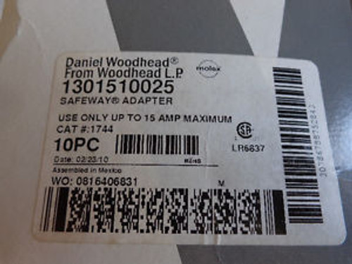 (10) NEW DANIEL WOODHEAD 1301510025 SAFEWAY ADAPTERS