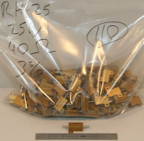 (110) Dale RH-25 Aluminium Resistors 40 Ohm 25 Watt 3%