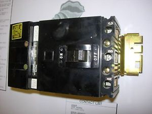 FA34040 - Square D Molded Case Circuit Breaker FA Type 3 Pole 40 AMP 240/480