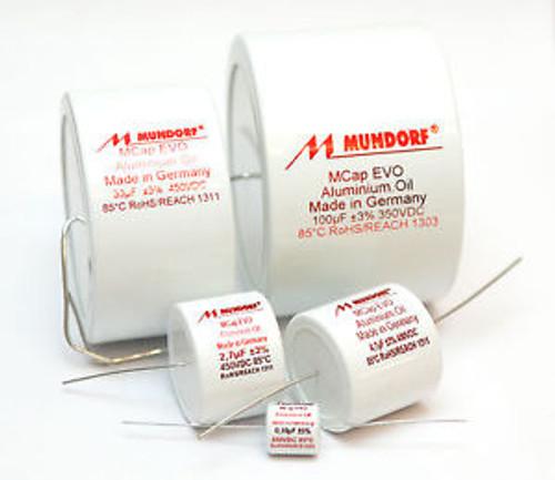 1 pair (2pcs) of Mundorf MCap EVO Oil Capacitors 350-650V (all values)