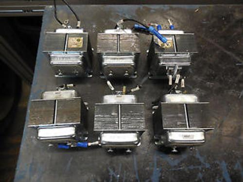 (6) Edwards 599Y Transformer, Single Phase, 240V-24V, 40 VA, 50/60 Hz