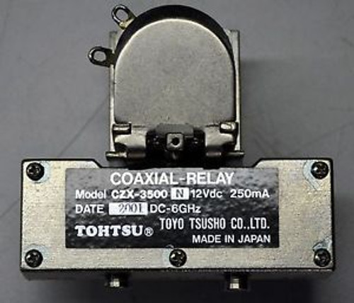 Tohtsu CZX-3500N DC - 6 GHz, 12 VdC RF Microwave Relay Switch Ham Radio