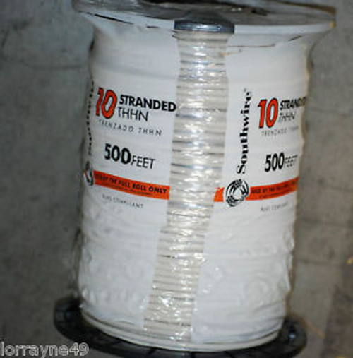 # 10THHN STRANDED WIRE WHITE 500 NEW SOUTHWIRE