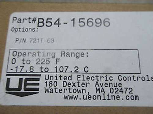 (RR7-2) 1 New UNITED ELECTRIC 721T-63 B54-15696 TEMPERATURE CONTROL