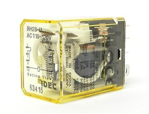 ( 10) IDEC relay RH2B-UAC110-120V 50/60Hz compact power relay