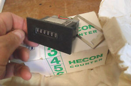 NEW Danaher Hecon GO403-202-4 24v Counter Six Digit