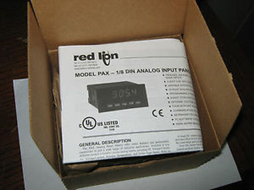 1 pc Red Lion PAXT0000 1/8 DIN Analog Input Panel Meter, New
