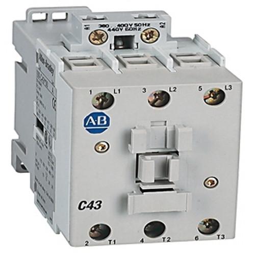 100C43B10 ALLEN BRADLEY CONTACTOR NON-REVERSING 600VAC 43AMP 50/60HZ